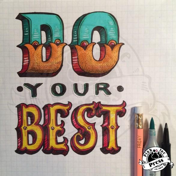 original typographic illustration