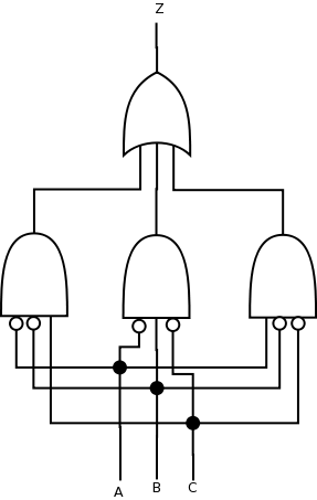 Convert the circuit of part a into a circuit that uses