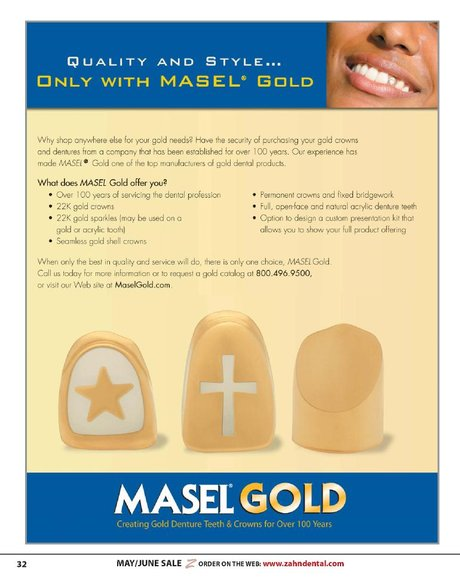 Open Face Gold Crown Tooth : crown, tooth, Dental, Sales, Flyer, May/June