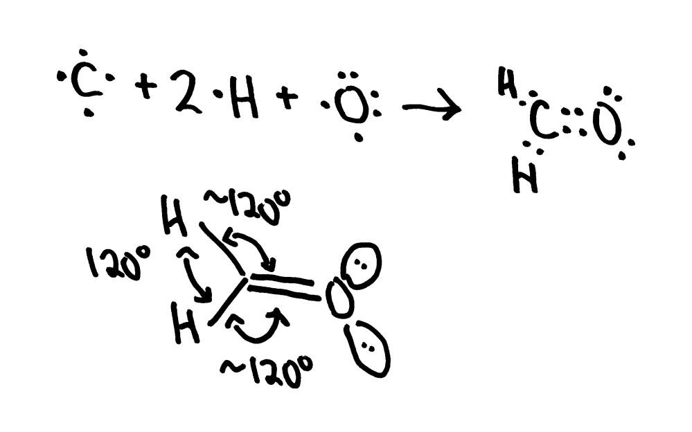 medium resolution of h2co bond angle