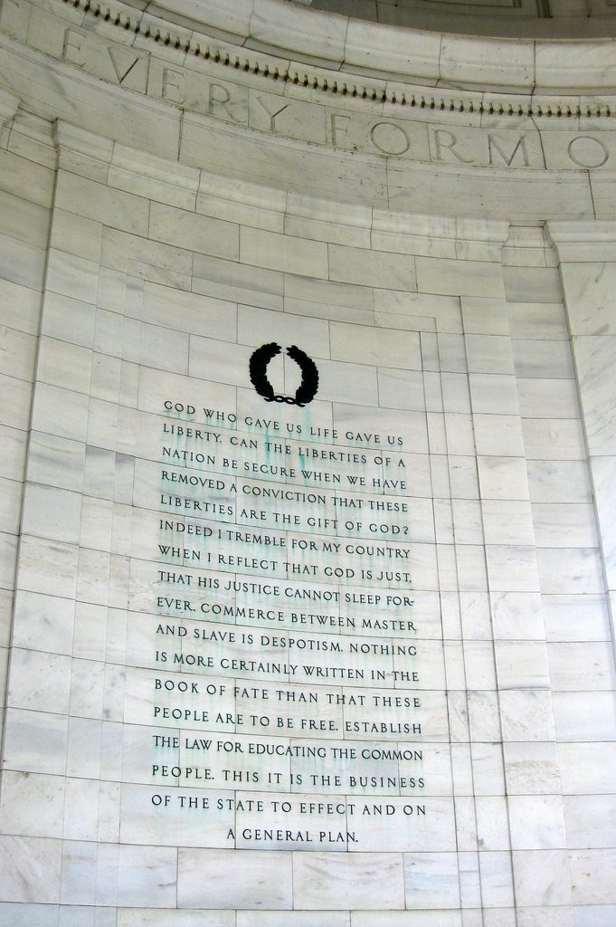 Inscription at the Thomas Jefferson Memorial, Washington, D.C.