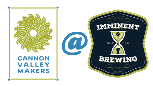 Logos for Cannon Valley Makers AT (logo for) Imminent Brewery