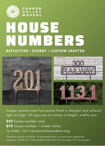 CVM House Numbers Flyer