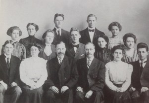 Many of the Sunday School teachers were recruited from the St. Olaf College student body in the early years. This group taught in 1909.