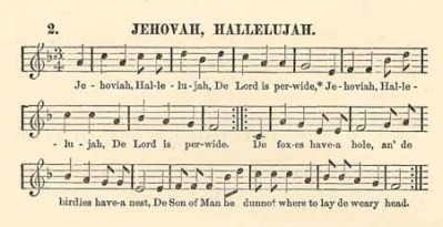Jehovah, Hallelujah (Slave Songs of the United States)