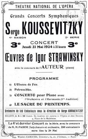 Théatre National de l'Opéra, Théâtre National de l'Opéra Concert Program, PDF, 1924.