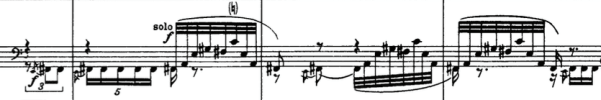 Solo for two bass clarinets. Igor Stravinsky, The Rite of Spring, (Moscow: Muzyka, 1965, reprint, Mineola: Dover Publications, 1989).
