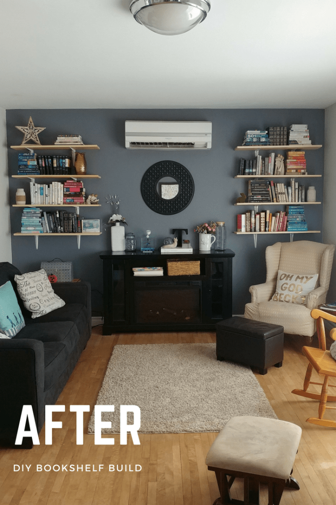 After DIY Bookshelf Build | Pages and Pekoe