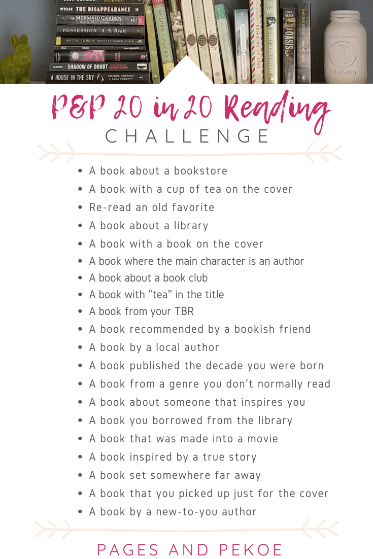Pages and Pekoe 20 in 20 Reading Challenge