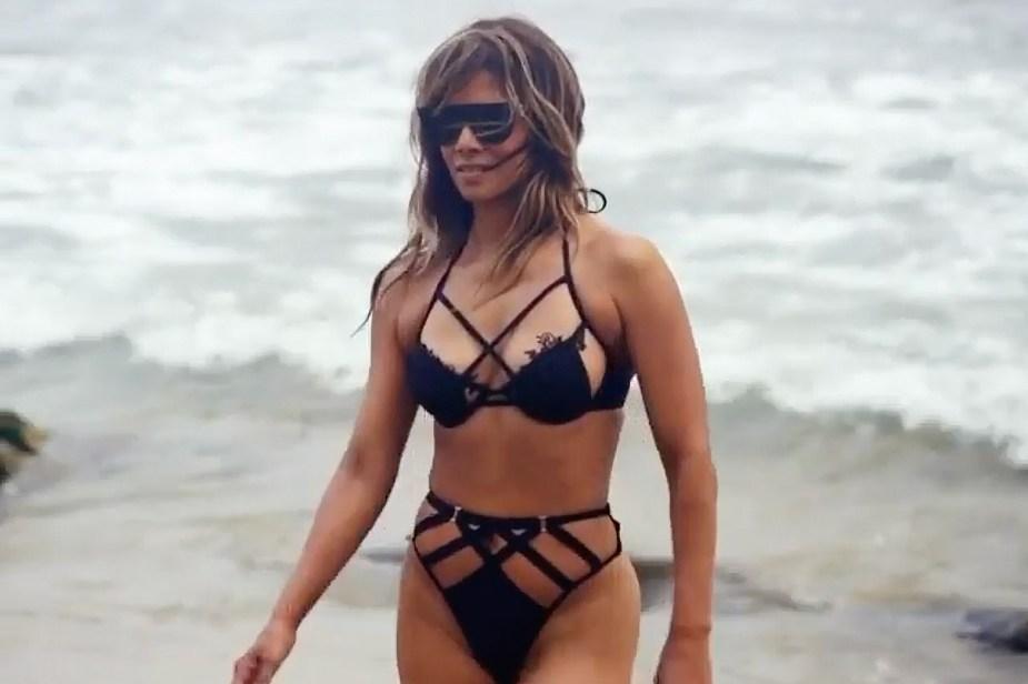 Halle Berry celebrates 54th birthday in sexy, strappy bikini on the beach