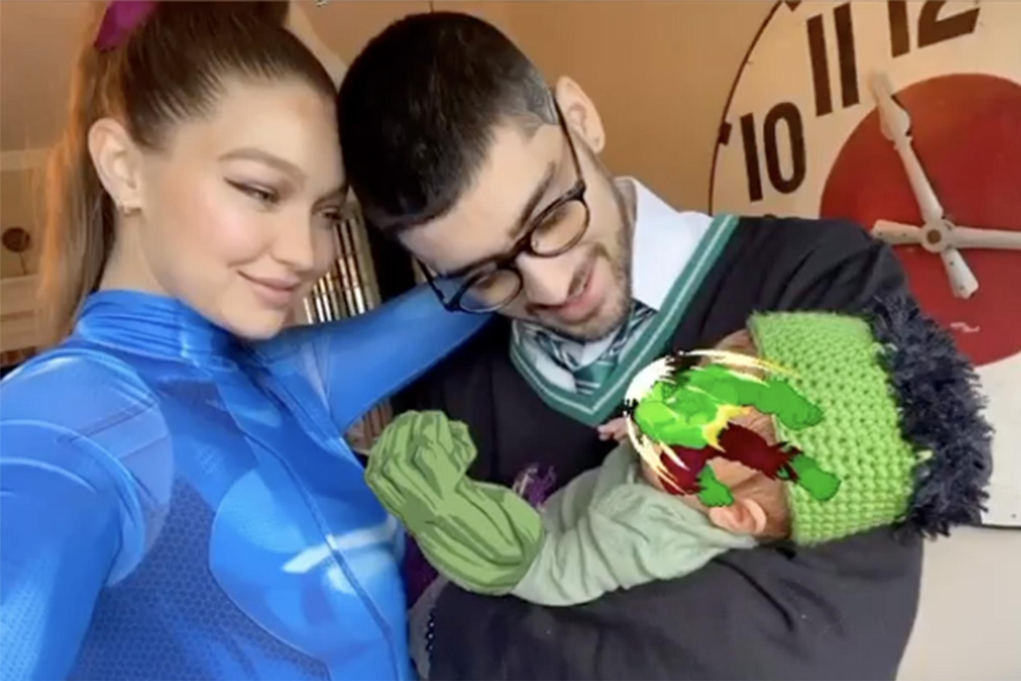 Gigi Hadid posts Halloween pic with Zayn Malik and newborn ...