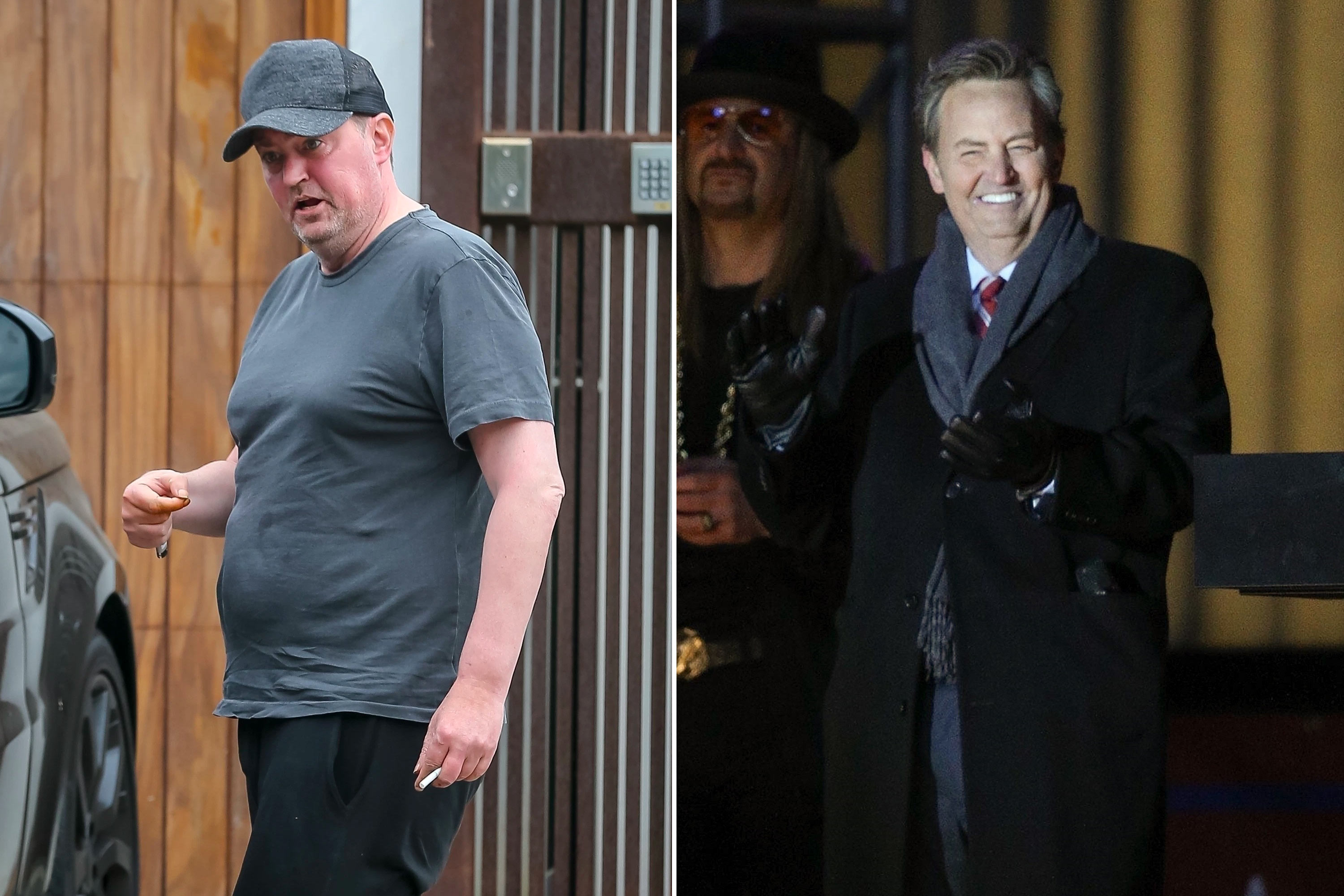 Matthew Perry appears healthy on movie set after engagement