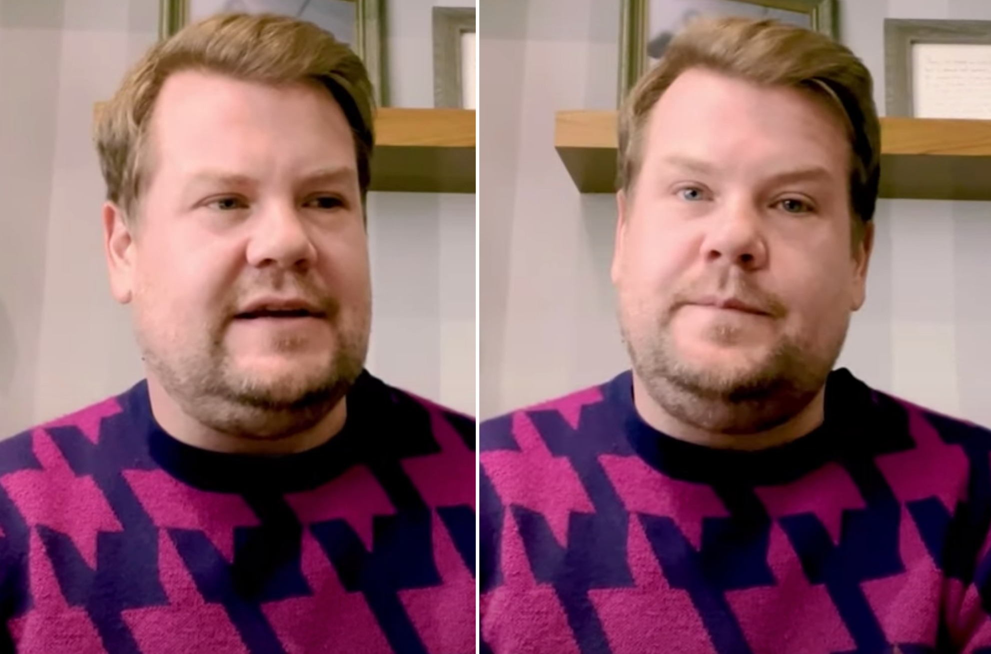James Corden 'fed up with being unhealthy'