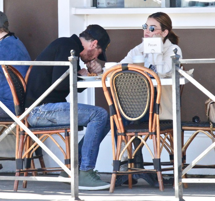 PREMIUM EXCLUSIVE: NEW COUPLE ALERT! Lucy Hale Packs on The PDA With Skeet Ulrich During a Lunch Date in Los Angeles.