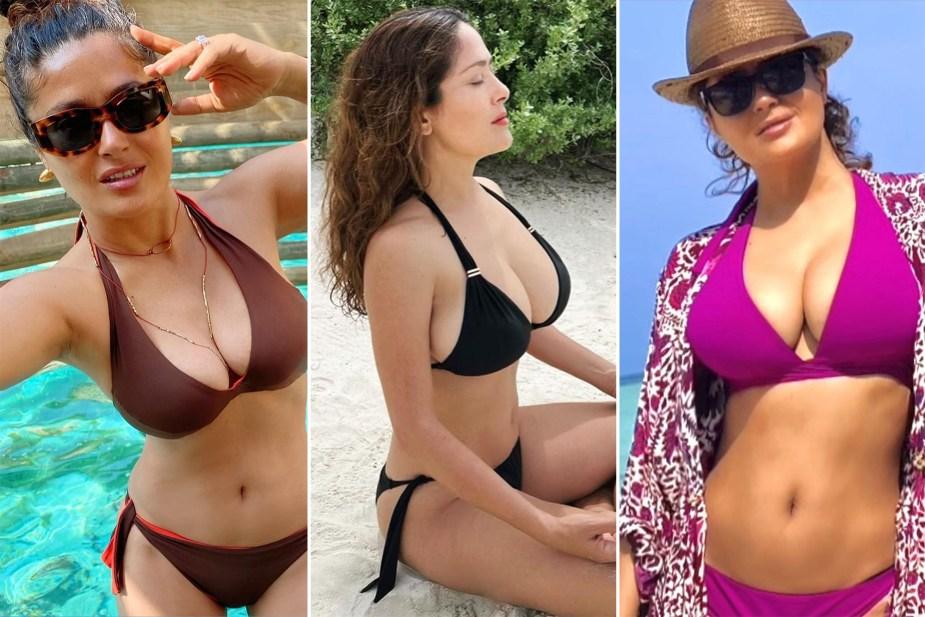Salma Hayek shares the truth behind her 'liberating' bikini photos
