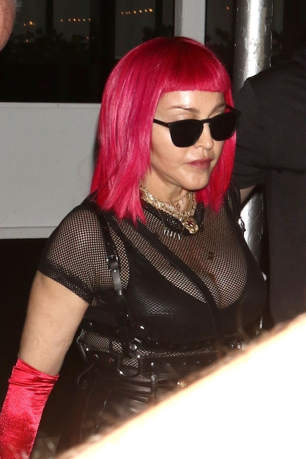 Madonna goes braless in see-through mesh for Pride performance