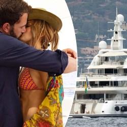 Jennifer Lopez celebrates 52nd birthday by kissing Ben Affleck on luxe yacht