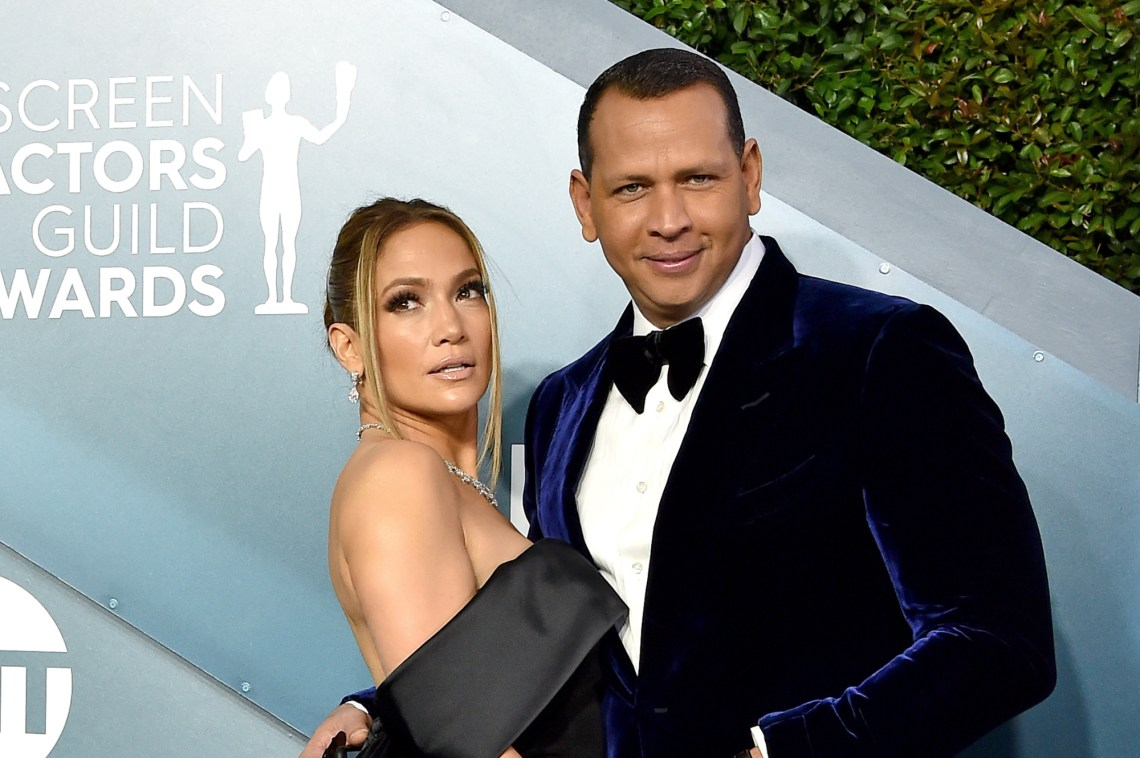 Jennifer Lopez and Alex Rodriguez, January 2020.
