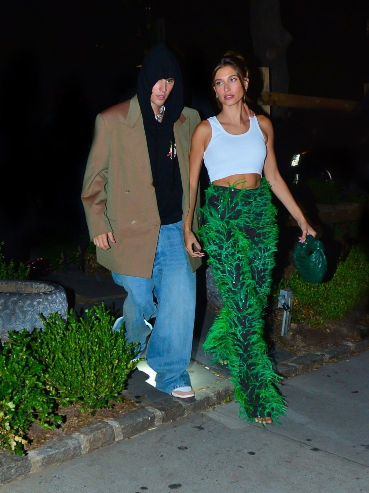 Justin Bieber steps out with wife Hailey Bieber after winning artist of the year award at the VMAs