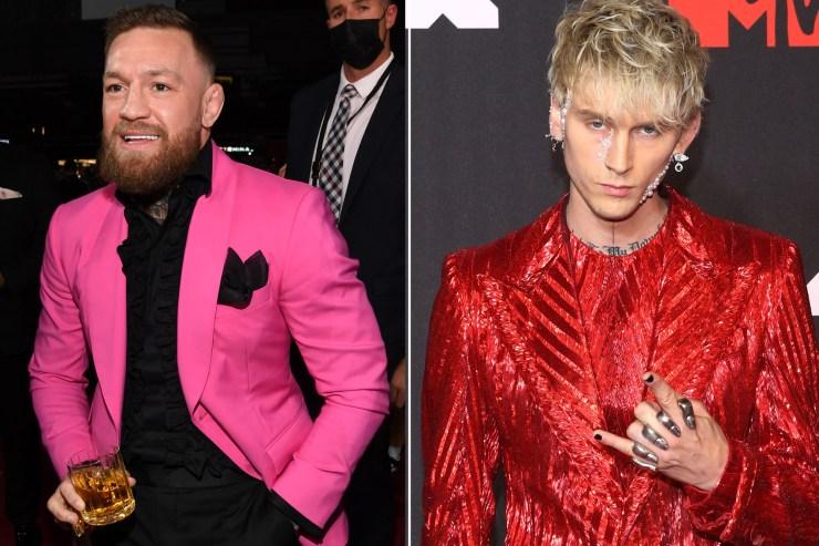 Conor McGregor invites Machine Gun Kelly to his next fight after VMA brawl