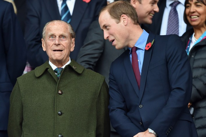 Prince Philip, Duke of Edinburgh and Prince William, Duke of Cambridge in 2015.