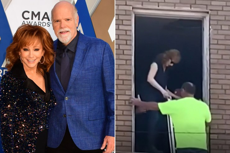 Reba McEntire rescued from 100-year-old building after staircase collapses