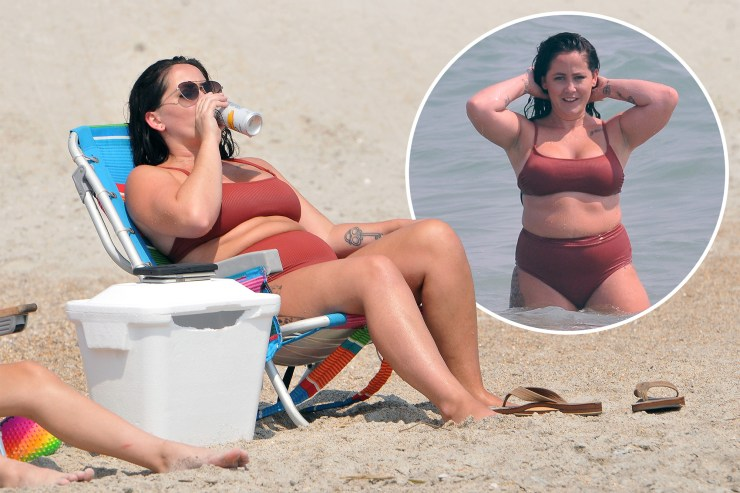 Jenelle Evans relaxes on the beach with husband David Eason