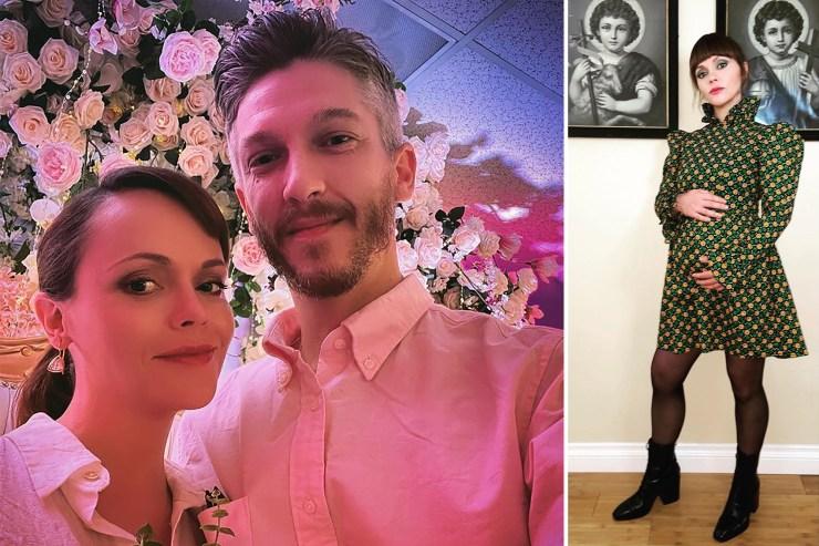 Christina Ricci marries Mark Hampton following pregnancy announcement