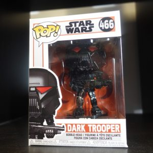 Star Wars Dark Trooper Funko Pop! On Display at Pages N Pixels Comic Book Shop, Halifax Uk