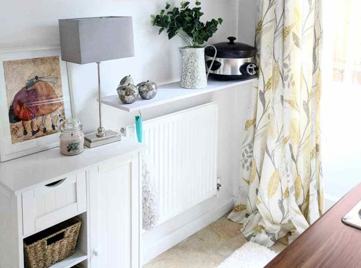 Removing a radiator from the wall to decorate behind it: easy peasy instructions