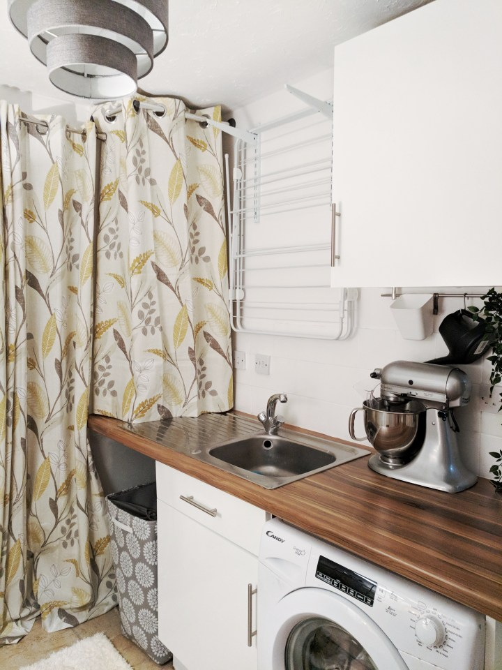 Covering up your boiler to make your room feel more furnished