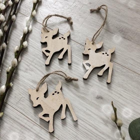 Wooden Hanging Deer