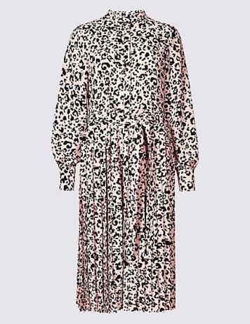 Marks And Spencer Long Sleeved Shirt Dress £49.50
