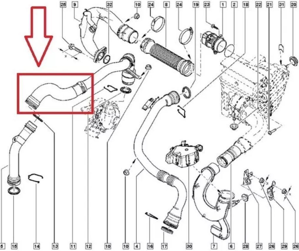 Turboschlauch Ladeluftschlauch RENAULT Fluence Megane III