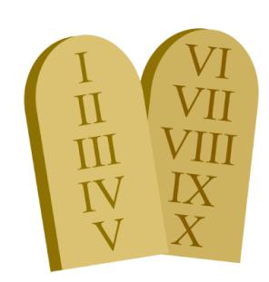 les dix commandements ou dix Paroles