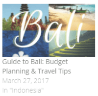 Guide to Bali on a Shoestring Budget: Itinerary and Travel Tips
