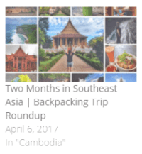 two months in southeast asia backpacking - itinerary, budget and travel tips