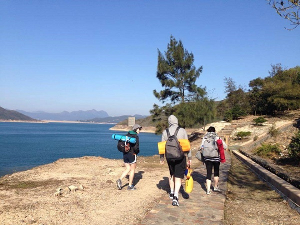 Hiking the MacLehose Trail Stage 1 - at the Reservoir