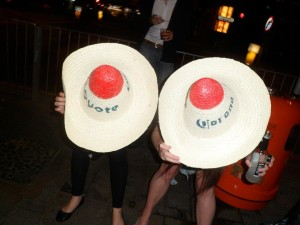 Hong Kong Birthday - Coyotes Boob Hats