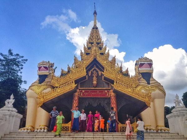 Entrance to the Shwedagon Paya, Yangon, Myanmar