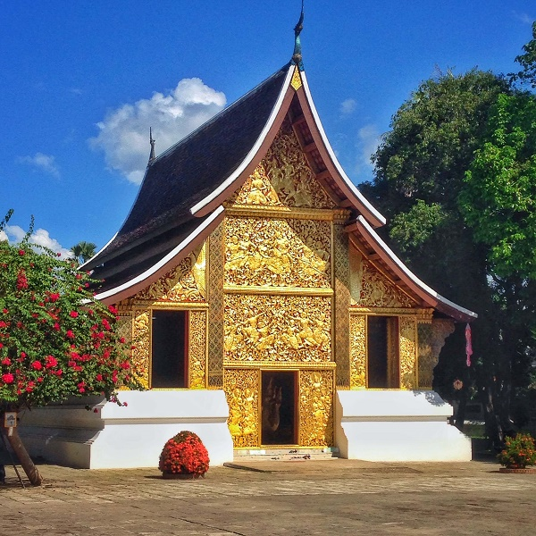 Gold temple at Wat Xieng Thong in Luang Prabang, Laos