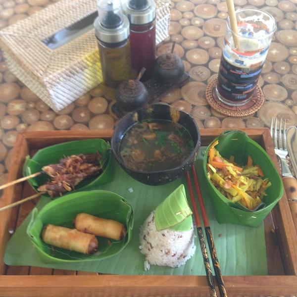 Indonesian food in Amed, Bali, Indonesia