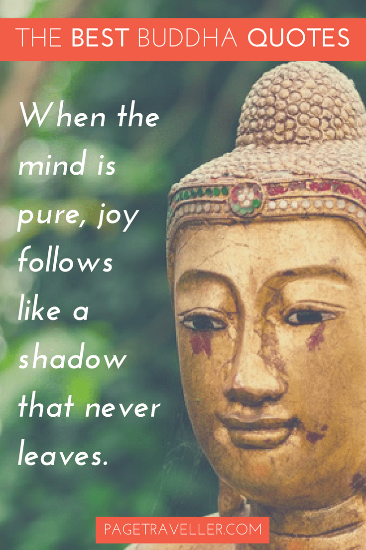 Buddha Quote Happiness - Gold Statue