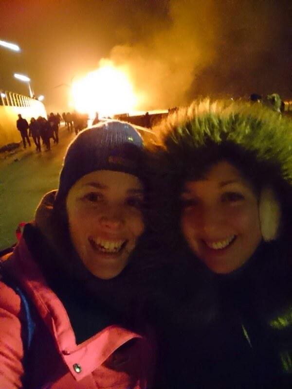 New Years Bonfires on Scheveningen Beach in Den Haag