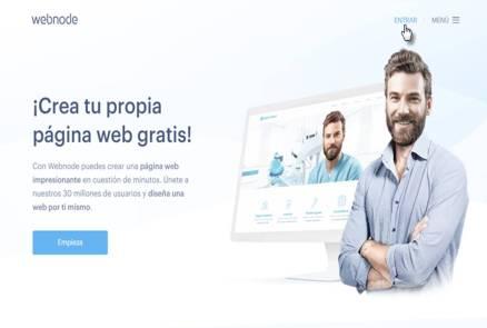 crear una pagina gratis con webnode