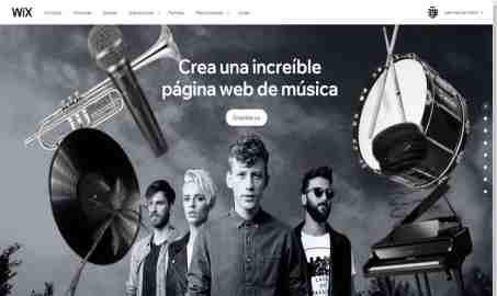 pagina gratis de musica con wix