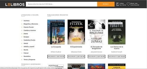 webs para descargar libros leLibros
