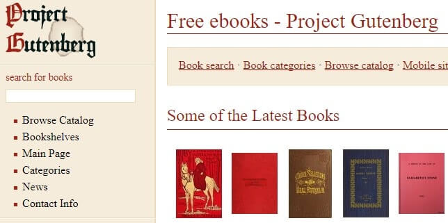 proyecto gutember ebooks