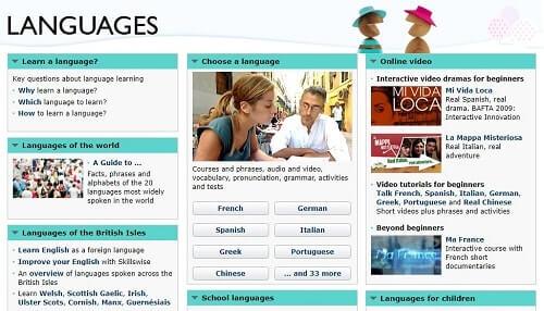 BBC Languages curso de idiomas online gratis