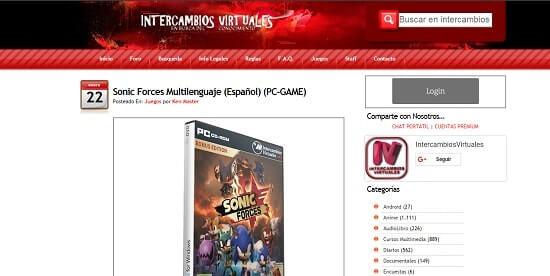 intercambios virtuales paginas para descargar juegos pc gratis en español